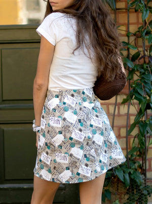 load image into gallery viewer, chelsea skirt - beige postcard