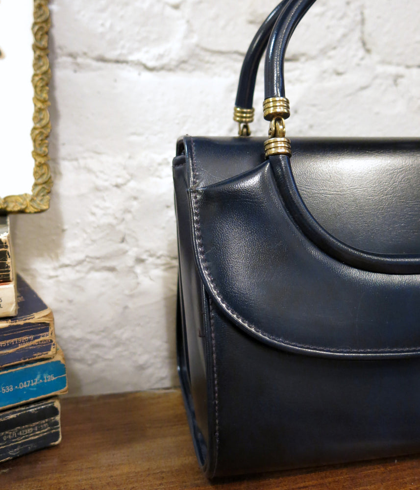 load image into gallery viewer, new amsterdam bag - smooth navy