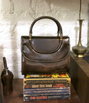 new amsterdam bag - brown patent