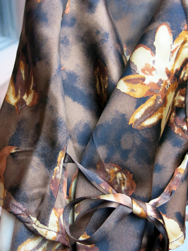 load image into gallery viewer, brown floral santiago top - upcycled vintage - girl of the earth