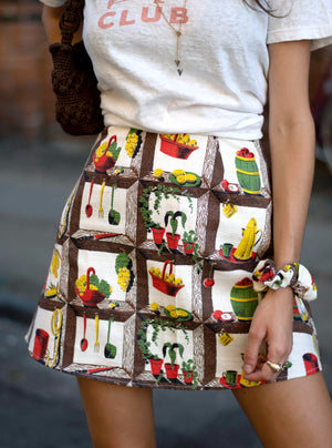load image into gallery viewer, chelsea skirt - kitchen print