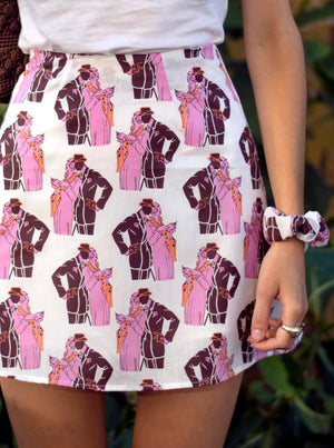 load image into gallery viewer, chelsea skirt - pink couple