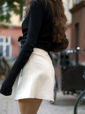 load image into gallery viewer, chelsea skirt - textured off-white