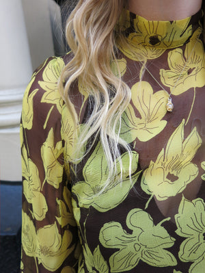copenhagen top - floral yellow