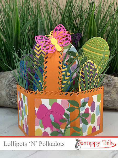360 Easter Egg Basket Pop up Card