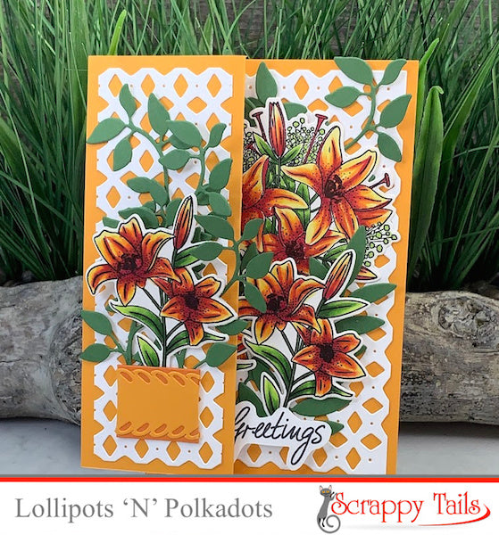 Easter Lily Tri-Fold Card