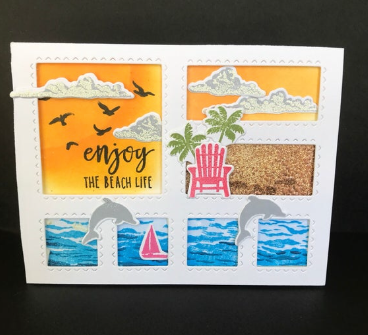 Beach Inspired Window Card