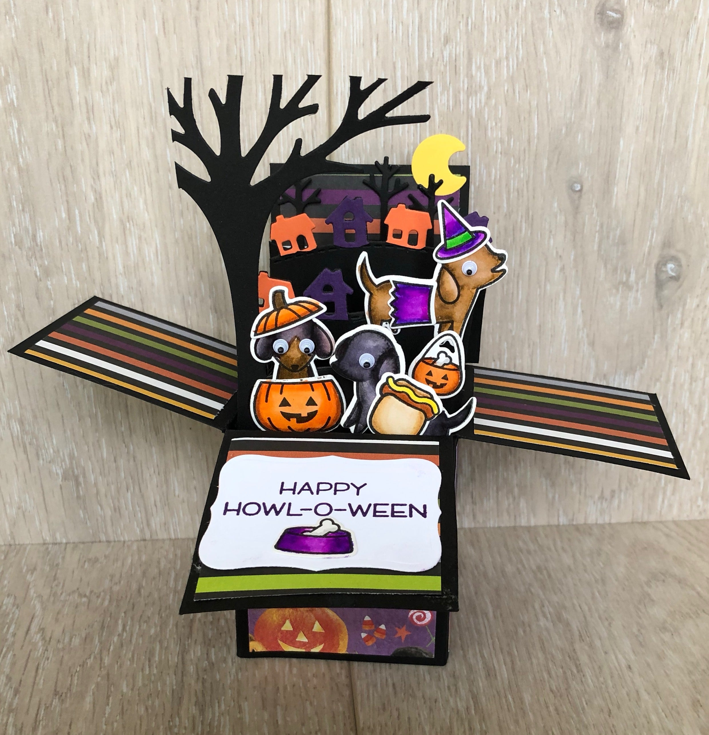 Lawn Fawn Howl-oween and Meowloween Cards