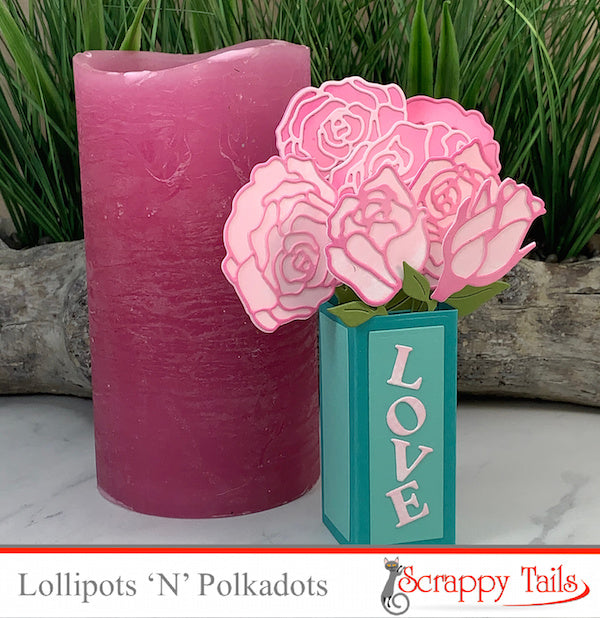 Paper Rose Mini Pop up Vase