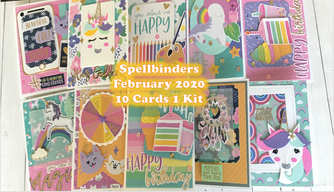 Spellbinders February 2020 | 10 cards 1 kit