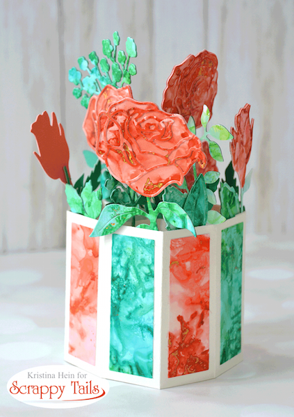 Alcohol Ink Pop up Vase