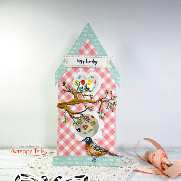 Pop up Slimline Birdhouse Card