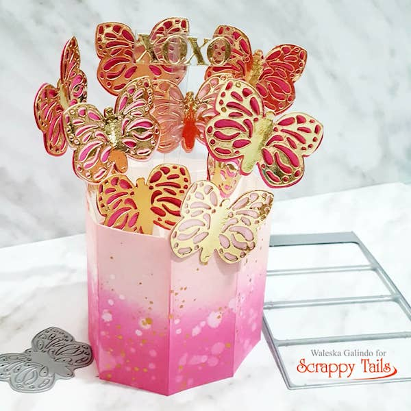 Butterfly Pop Up Vase Card