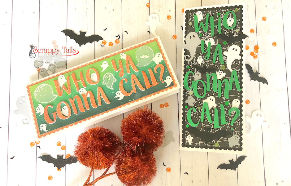 Using Letter Dies to Create Custom Sentiments | Ghostbusters Card Set