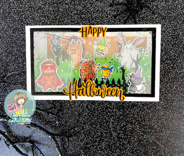 Halloween Slimline Shaker Shadow Box Card | Halloween Card Series Day 7
