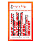 Hot Foil Bold Christmas Sentiments - Scrappy Tails