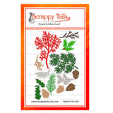 Assorted Christmas Leaves dies - Scrappy Tails Crafts