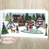 6x6 German Winter Village Stamp