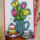 Timeless Tulip 6x6 Stamp Set with Coordinating Metal Dies