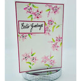 Easter Lilies 4x6 Stamp Set with Coordinating Metal Dies