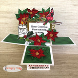 6x6 Candle Light Poinsettia Stamp