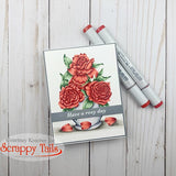 Rose Petals 6x6 Stamp Set with Coordinating Metal Dies