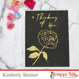 Outlined Rose Assortment Two Layered Metal Dies