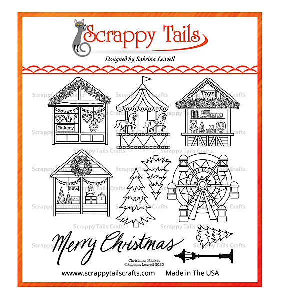 6x6 Christmas Market Stamp