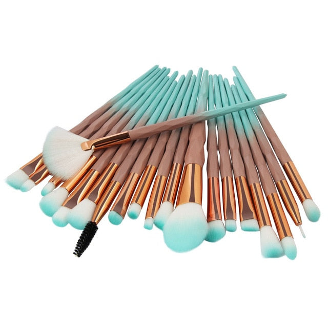 20Pcs Diamond Makeup Brushes Set - Beautiful Beauty