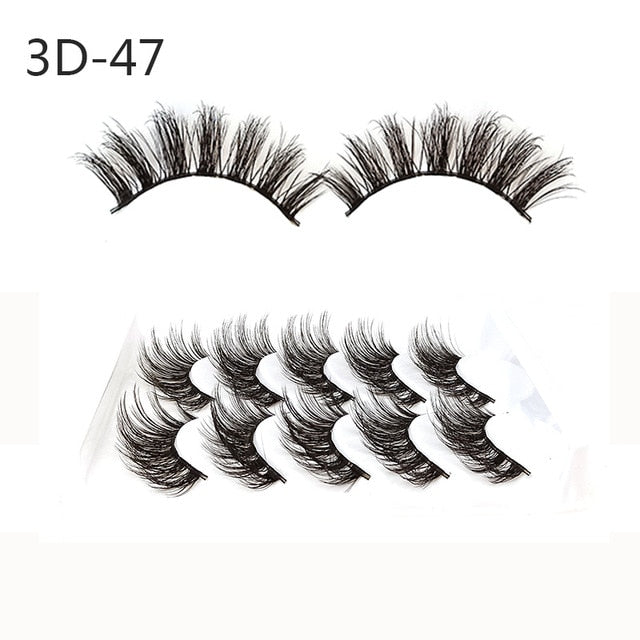 5Pcs 3D Fluffy Eyelashes - Beautiful Beauty