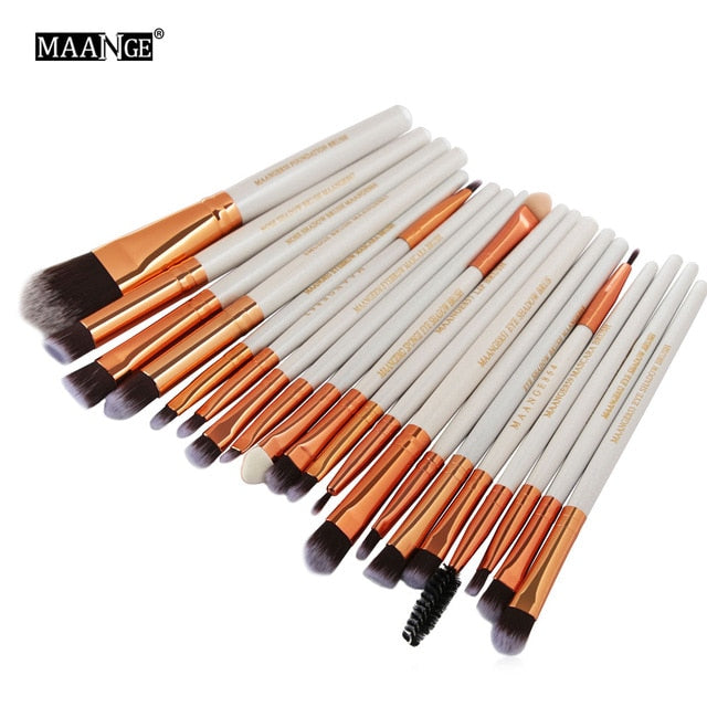 MAANGE 20/22Pcs Beauty Makeup Brushes Set Cosmetic Foundation - Beautiful Beauty