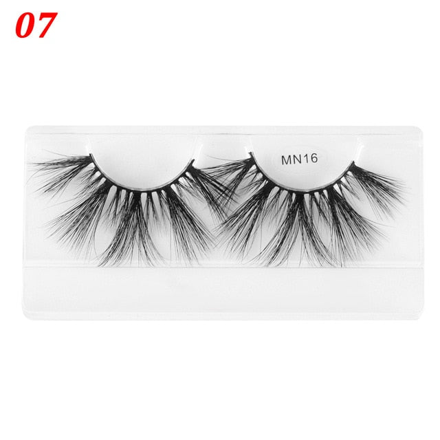 1 Pair 30mm Thick Makeup Lashes - Beautiful Beauty