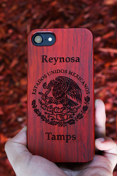 Mexico Seal - Laserx Engraving -wood case - customizer - wood iphone cases - wood products