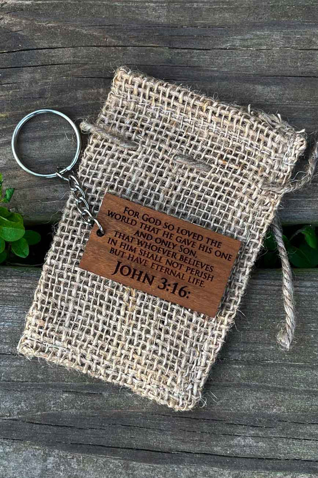 Bible Verse Wood Keychain - Laserx Engraving