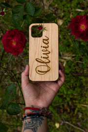 Name Design - Laserx Engraving -wood case - customizer - wood iphone cases - wood products