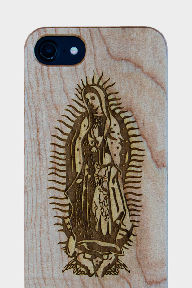 Virgen de Guadalupe - Laserx Engraving -wood case - customizer - wood iphone cases - wood products
