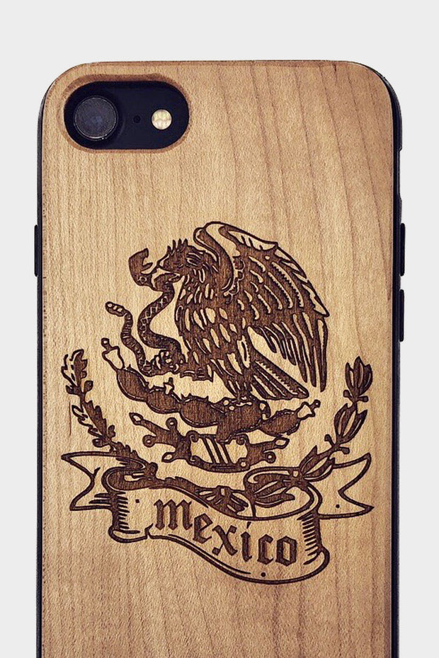 Viva Mexico - Laserx Engraving -wood case - customizer - wood iphone cases - wood products