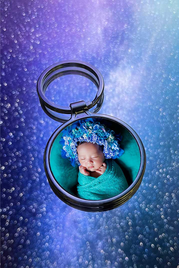 Custom Circle Photo keychain - Laserx Engraving