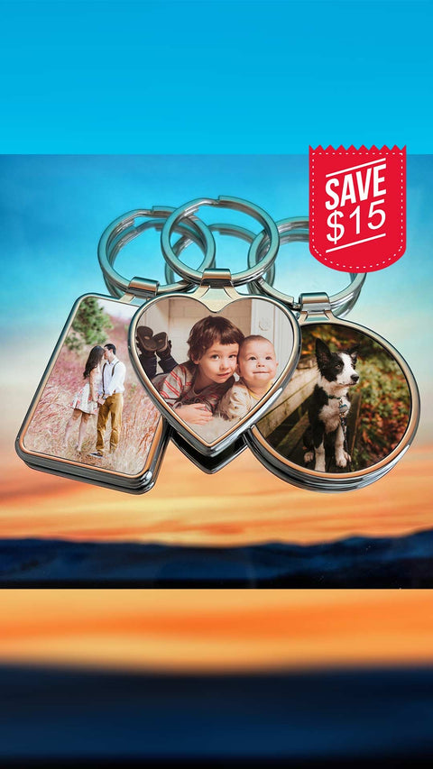 Custom Photo Keychains - Set of 3 - Laserx Engraving