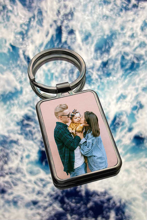 Custom Rectangle Photo keychain - Laserx Engraving