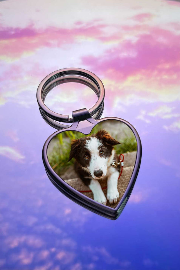 Custom Heart Photo keychain - Laserx Engraving