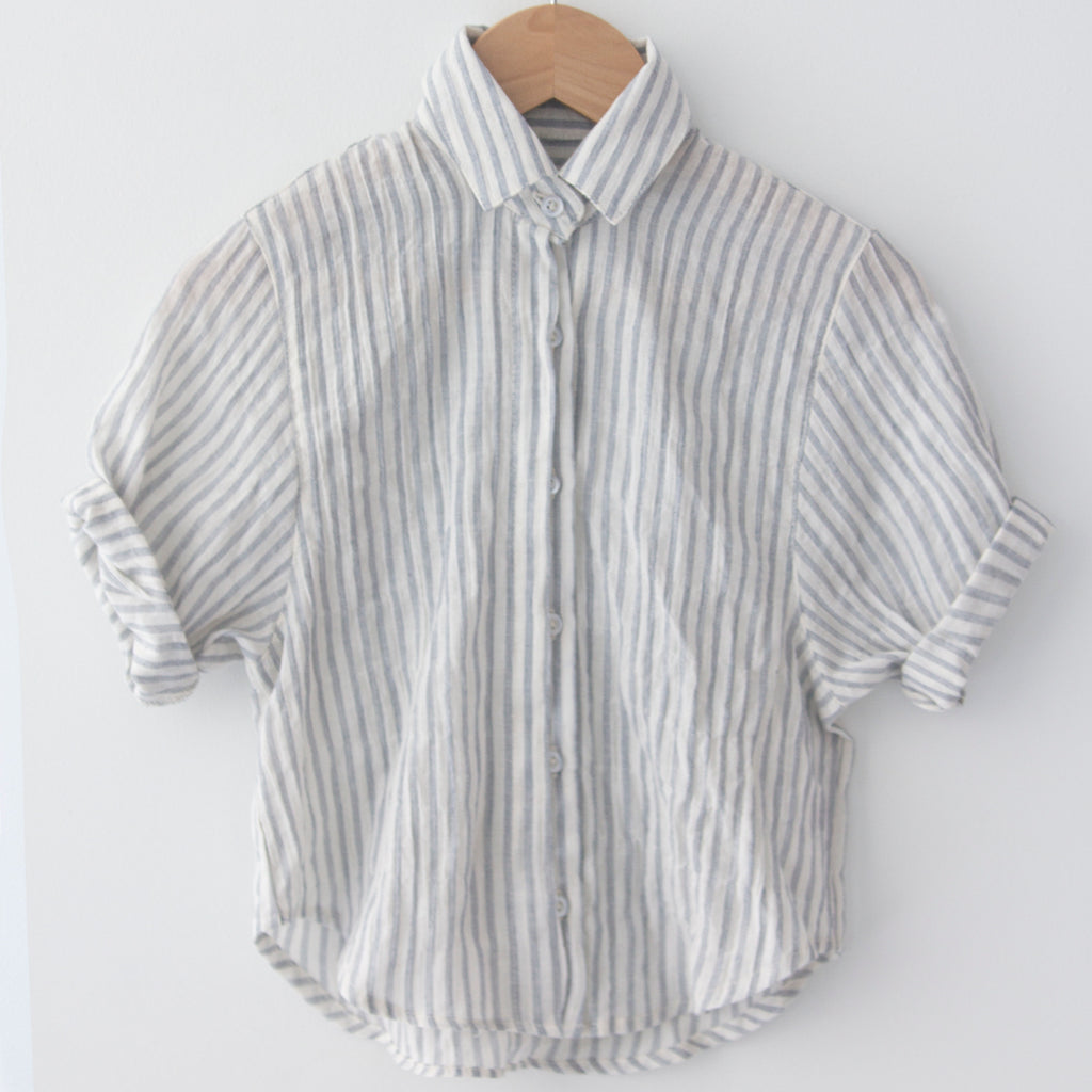 Spanish Banks Button Up - Blue Stripe