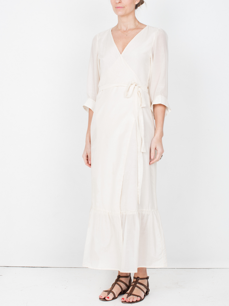 Penelope Wrap Dress - Cream