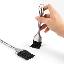 Load image into Gallery viewer, Brush Silicone Bristles Stainless Steel