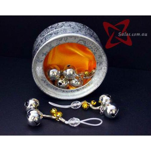 Bondage & Fetish Gear - Small Clear Crystal Nipple Toys With Bells
