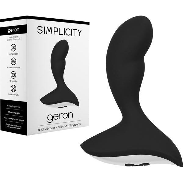 Rechargeable -Anal Play - GERON Anal Vibrator (Black)