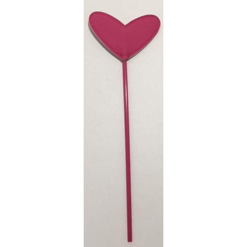 Bondage & Fetish Gear - Whips & Paddles - Heart Crop Whip Cane (Pink)