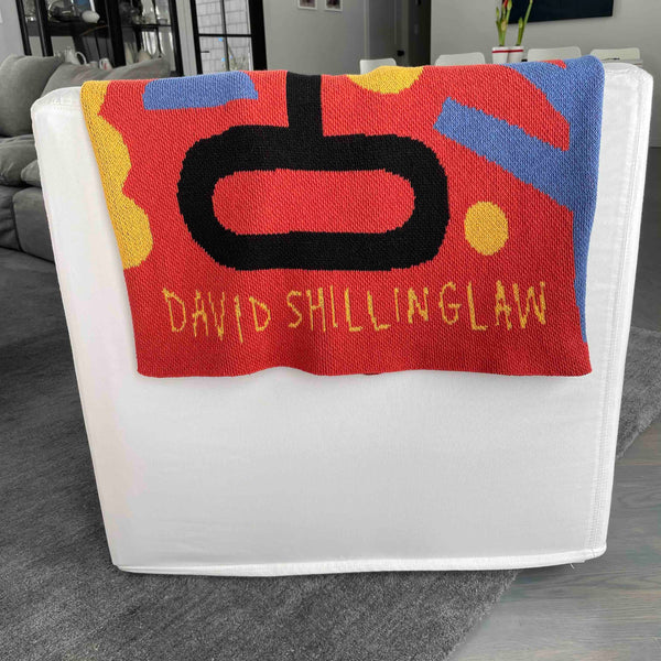 David Shillinglaw Hieroglyphics Cotton Throw