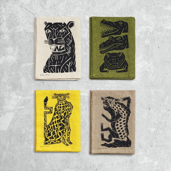 Keya Tama Sketchbook Tea Towels