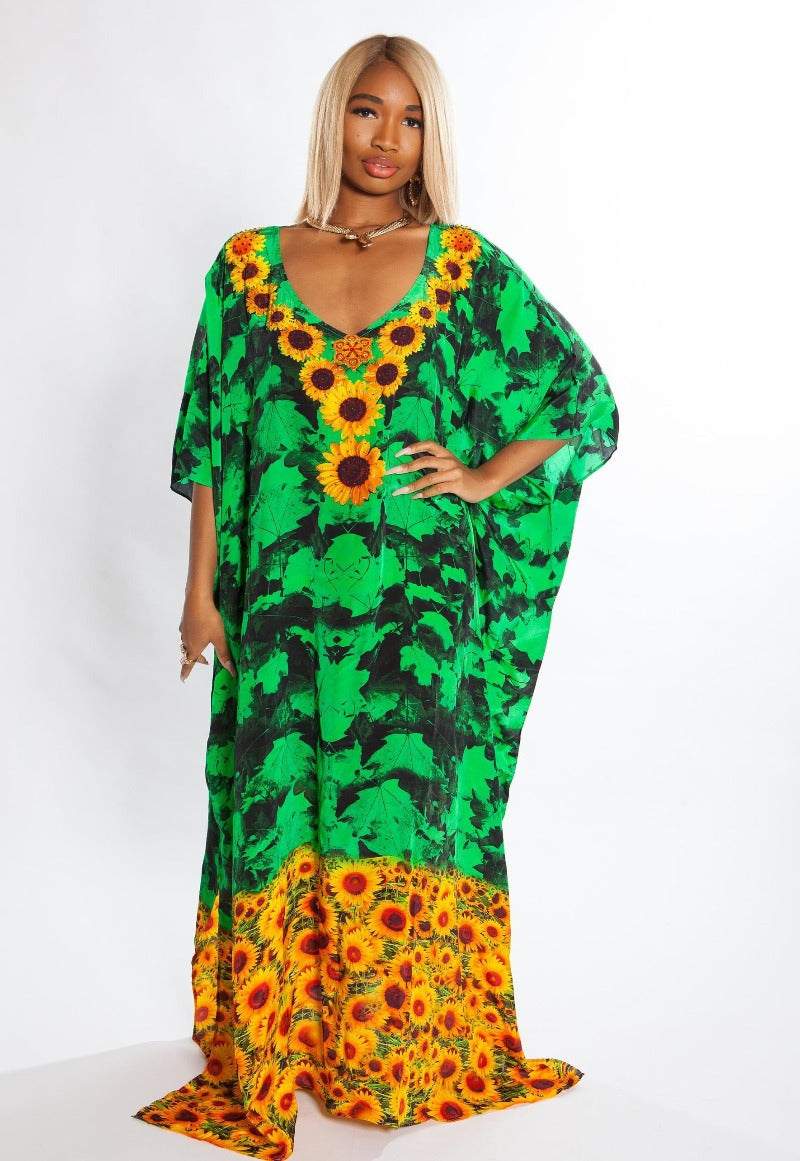 Audrey Silk Box Kaftan